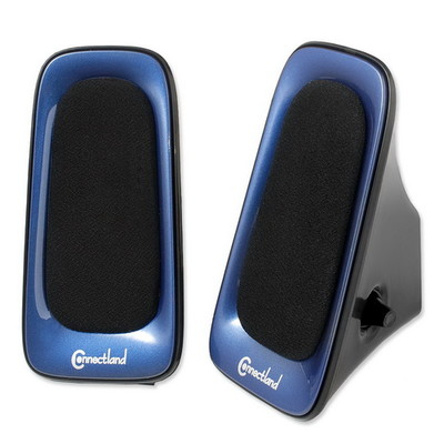 USB Powered Multimedia Speaker System for Desktops, Laptops, Tablets and MP3 Players, Blue - Part Number: 60PS-22100BL