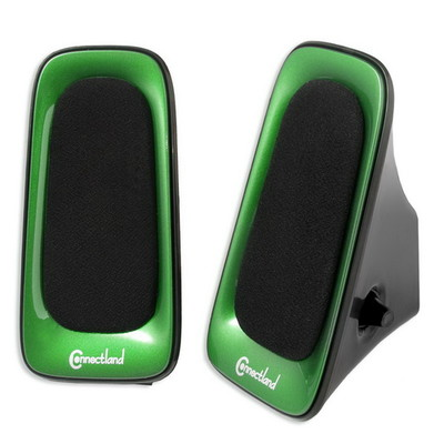 USB Powered Multimedia Speaker System for Desktops, Laptops, Tablets and MP3 Players, Green - Part Number: 60PS-22100GR