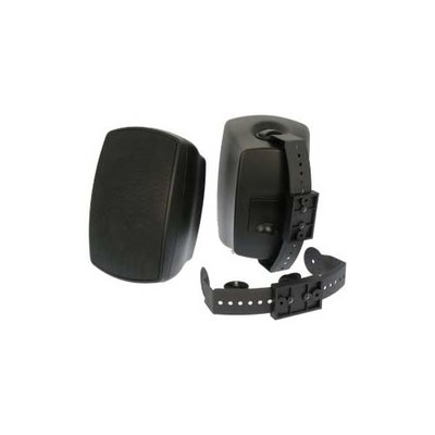 Indoor/Outdoor Wallmount Speaker - Black - Part Number: 60PS-62200