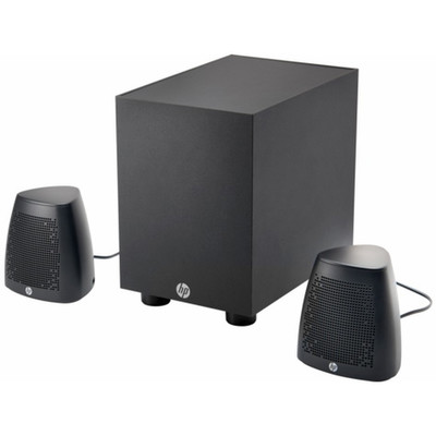 HP Speaker System 400, 2.1 Speaker System - Desktop - AC powered - Part Number: 60PS-70100