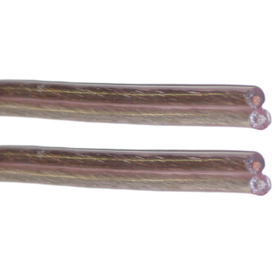 Speaker Cable, Clear, 12/2 (12 AWG 2 Conductor), 62 Strand / 0.23mm, Spool, 500 foot - Part Number: 60S4-03500