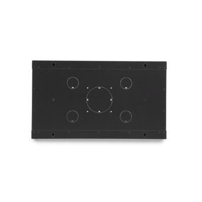 Rackmount Fixed Wall Mount Cabinet, Solid Door, 6U - Part Number: 61C3-11206