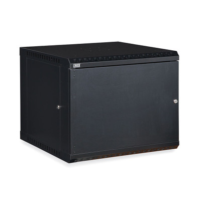 Rackmount Fixed Wall Mount Cabinet, Solid Door, 9U - Part Number: 61C3-11209