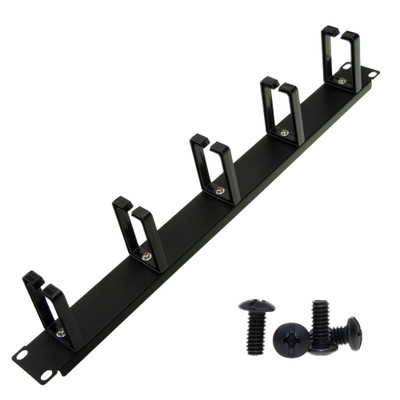19 inch rackmount cable management wire holder, 1U - Part Number: 61CR-01102