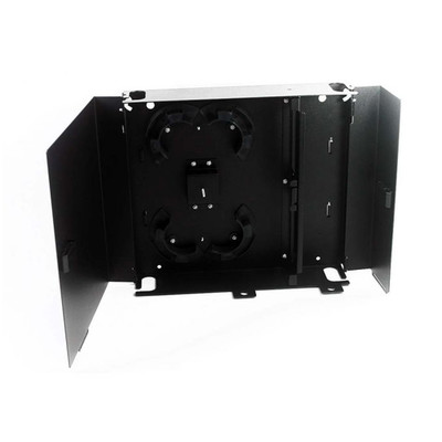 Fiber Wall Mount Patch Panel Enclosure, Unloaded, Holds 2 Adapter Plates, Black - Part Number: 61F2-01001