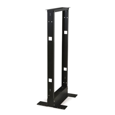 2-Post Relay Rack, 19 inch, 24U, Dimensions: 47.37 H x 20.81 W x 15.04 D inches - Part Number: 61R2-12024