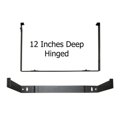 Rackmount Hinged Wall Mounting Bracket, 1U, Dimensions: 1.75 (H) x 19 (W) x 12 (D) inches - Part Number: 68BP-4001U