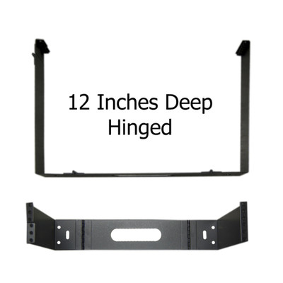Rackmount Hinged Wall Mounting Bracket, 2U, Dimensions: 3.5 (H) x 19 (W) x 12 (D) inches - Part Number: 68BP-4002U