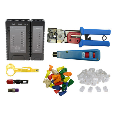 SOHO Network Tester and Tool Kit, 8 Pieces - Part Number: 7006-10003
