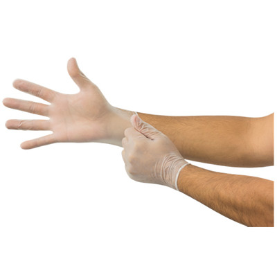 AnsellPro Dura-Touch 5 mil PVC Disposable Gloves, Medium, Clear, 100/Box - Part Number: 7301-01207