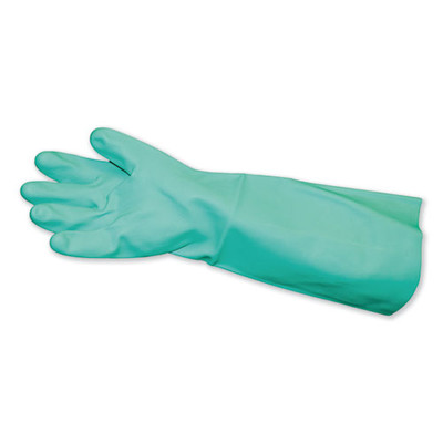 Impact Long-Sleeve Unlined Nitrile Gloves, Powder-Free, Green, Medium, 1 Pair - Part Number: 7301-01611