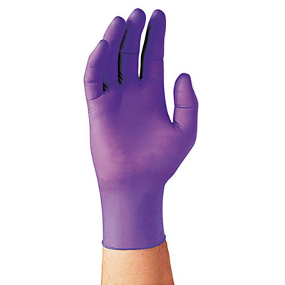Kimberly-Clark Professional Nitrile Exam Gloves, Large, Purple, 100/Box - Part Number: 7301-02403