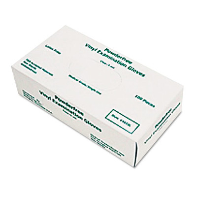 MCR Safety Disposable Vinyl Gloves, Large, 5 mil, Medical Grade, 100 / Box - Part Number: 7301-02501