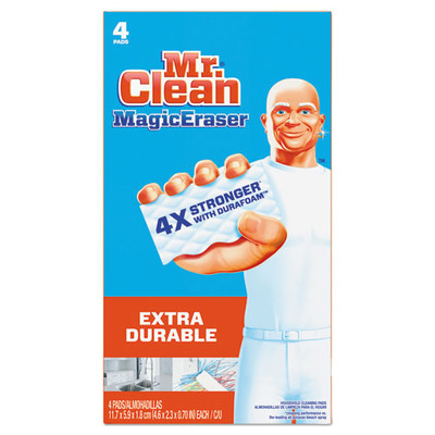 Magic Eraser Extra Durable, 4 3/5 inch x 2 2/5 inch, 4/Box - Part Number: 7302-00501