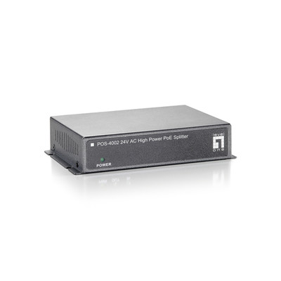PoE Splitter, 10/100 Fast Ethernet and High Power, 24 Volts AC / 1.6 Amps, Splits Data and Power - Part Number: 74X5-02111