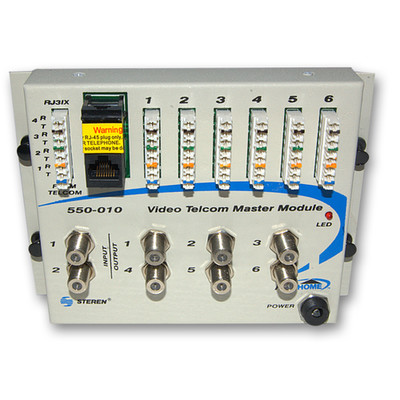 Telephone/TV Hub Media Cabinet Module, Centralize and Simplify Telephone and TV Distribution - Part Number: 7550-00010