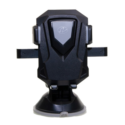 Universal mobile device holder, windshield/dashboard mount, telescoping arm, black - Part Number: 8001-10320
