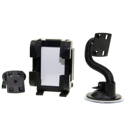 Universal Gooseneck-style dash/windshield/vent phone holder, with picture frame - Part Number: 8001-10330