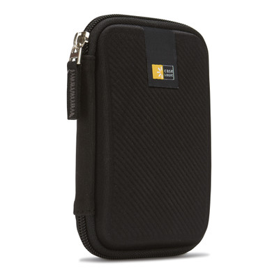 Case Logic Portable Hard Drive Case, EVA Foam, Elastic, Mesh - Black - Part Number: 8002-50040