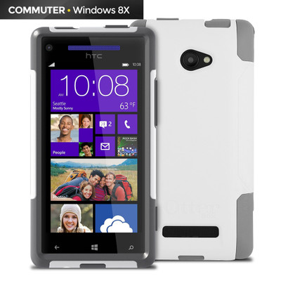 OtterBox Commuter Case for HTC Windows Phone, 8X Glacier - Part Number: 8002-50128