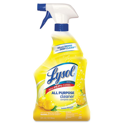 Case of 12 - Lysol Ready-to-Use All-Purpose Cleaner, Lemon Breeze, 32 oz Spray Bottle - Part Number: 8301-00128CT