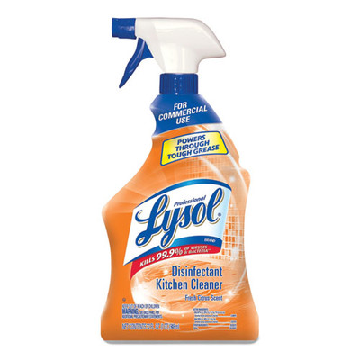 Case of 12 - Professional Lysol Disinfectant Kitchen Cleaner, 32oz Spray Bottles - Part Number: 8301-00136CT