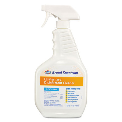 Clorox Broad Spectrum Quaternary Disinfectant Cleaner, 32oz Spray Bottle - Part Number: 8301-00203