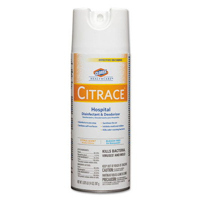Clorox Healthcare Citrace Hospital Disinfectant & Deodorizer, Citrus, 14oz Aerosol - Part Number: 8301-00208