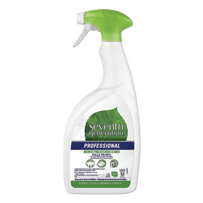 Seventh Generation Disinfecting Kitchen Cleaner, Lemongrass Citrus, 32 oz Spray Bottle - Part Number: 8301-00701