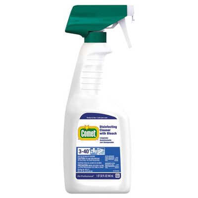 Comet Disinfecting Cleaner w/Bleach, 32 oz, Plastic Spray Bottle, Fresh Scent - Part Number: 8301-02201