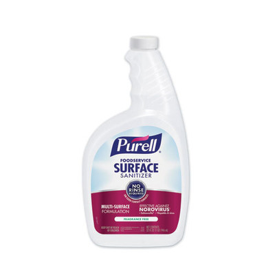 Case of 6 - Purell Foodservice Surface Sanitizer, Fragrance Free, Capped Bottle, includes 2 Spray Triggers in Pack - Part Number: 8301-02301CT