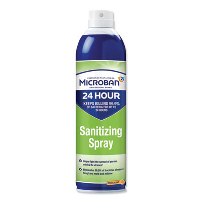 Case of 6 - Microban 24-Hour Disinfectant Sanitizing Spray, Citrus, 15oz - Part Number: 8301-02452CT