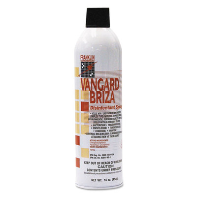 Vangard Briza Surface Disinfectant Spray, Linen Fresh, 16oz Aerosol - Part Number: 8301-02471