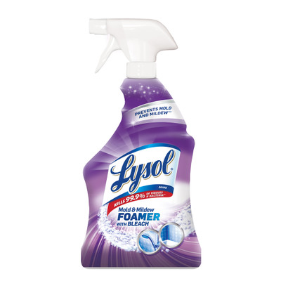 Case of 12 - Lysol Mold and Mildew Foamer with Bleach, Ready to Use, 32 oz Spray Bottles - Part Number: 8301-07101CT