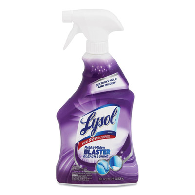 Case of 9 - Lysol Mold and Mildew Remover with Bleach, 28 oz Trigger Spray Bottle - Part Number: 8301-07106CT