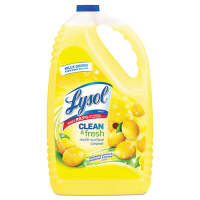 Case of 4 - Lysol Clean and Fresh MultiSurface Cleaner & Disinfectant, Sparkling Lemon and Sunflower Essence, 144 oz Bottle - Part Number: 8302-00113CT