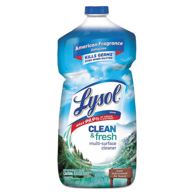 Case of 9 - Lysol Clean and Fresh Multi-Surface Cleaner & Disinfectant, Cool Adirondack Air, 40 oz Bottles - Part Number: 8302-00116CT