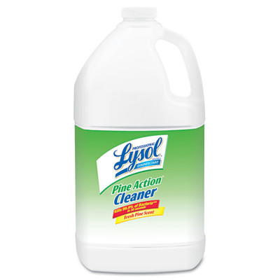 Case of 4 - Lysol Disinfectant Pine Action Cleaner Concentrate, 1 gal Bottles - Part Number: 8302-00117CT