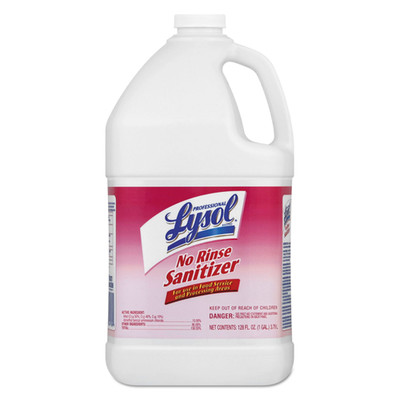 Case of 4 - Professional Lysol No Rinse Sanitizer Concentrate, Unscented, 1 gal Bottles - Part Number: 8302-00125CT