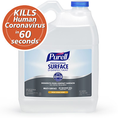 Case of 4 - Purell Professional Surface Disinfectant, Fresh Citrus, 1 gal Bottles - Part Number: 8302-02151CT