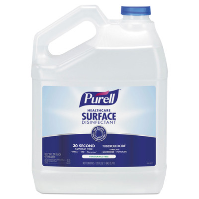 Purell Healthcare Surface Disinfectant, Fragrance Free, 128 oz Bottle - Part Number: 8302-02155