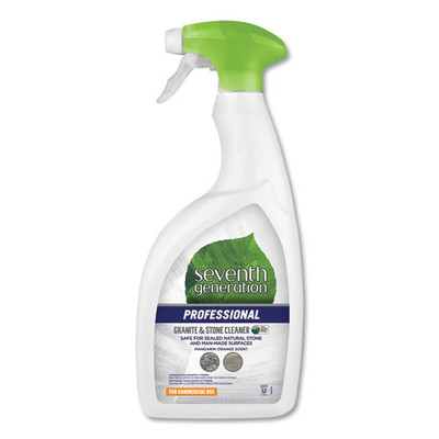 Seventh Generation Granite and Stone Cleaner, Mandarin Orange Scent, 32 oz Bottle - Part Number: 8302-02704