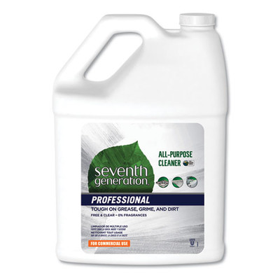 Seventh Generation All-Purpose Cleaner, Free and Clear, 1 gal Bottle - Part Number: 8302-02705