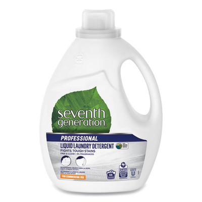 Seventh Generation Liquid Laundry Detergent, Free and Clear, 66 loads, 100oz Bottle - Part Number: 8302-05707