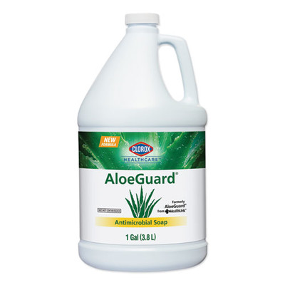 Clorox AloeGuard Antimicrobial Soap, Aloe Scent, 1 gal Bottle - Part Number: 8302-06102