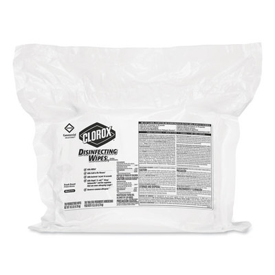 Clorox Disinfecting Wipes, Fresh Scent, 7 x 8, 700/Bag Refill - Part Number: 8303-02209