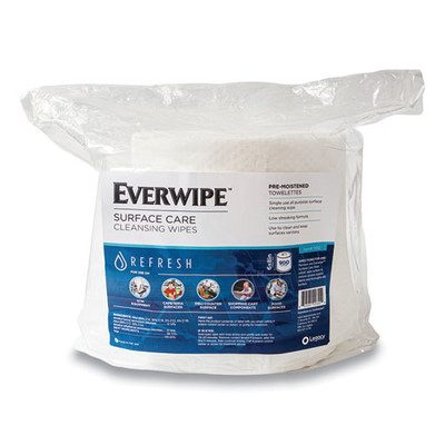 GN1 Everwipe Cleaning and Deodorizing Wipes, 6 x 8, 900/Bag - Part Number: 8303-02352