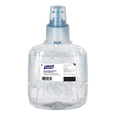 PURELL Advanced Hand Sanitizer Green Certified Gel 1200 mL Refill for PURELL LTX-12 Dispenser - Part Number: 8304-06102