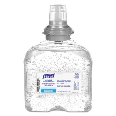 Purell Advanced TFX Gel Instant Hand Sanitizer Refill, 1200 mL - Part Number: 8304-06110