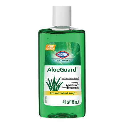 Clorox Healthcare AloeGuard Antimicrobial Soap, Aloe Scent, 4 oz Bottle - Part Number: 8304-06111